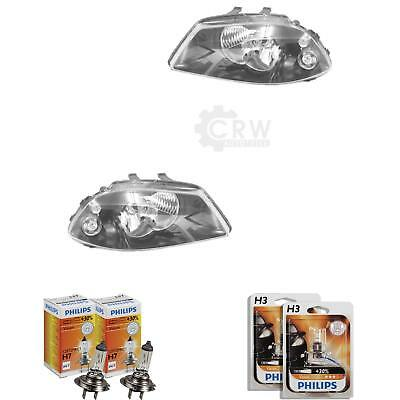 Headlight Set for Seat Ibiza III 3 Type 6L Built 02-06 Valeo H7 +H3 Incl. Lamps