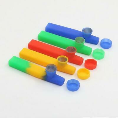 New Design Portable Colored  Silicone Smoking pipe Hand Spoon Pipe Hookah Bongs