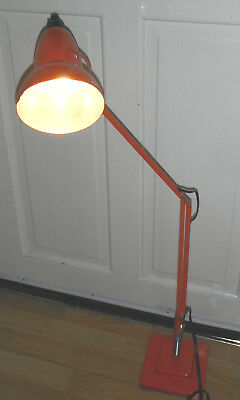 Vintage Herbert Terry 1227 Model Anglepoise Lamp Light 2 Step Fire Engine Red