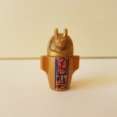 Playmobil Gold Egyptian Anubis Jar Canopic Burial Urn  Spare Replacement #310