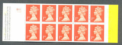 Great Britain-10 x 1st class stamps for postage in booklet mnh