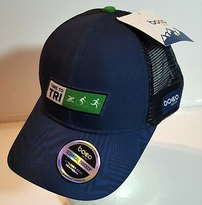 Boco Gear Technical Trucker Time to TRI Triathlon Marathon Cap Hat ONE SIZE  NEW df621655a47