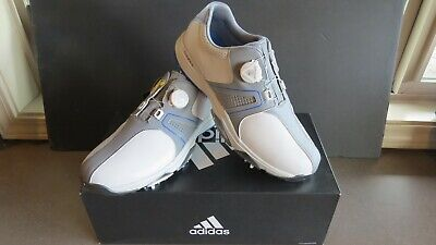 a93ad420cbbb ADIDAS 360 TRAXION BOA Mens Golf Shoes -   NEW   GRAY WHITE ...