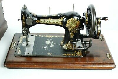 Antique English JONES FAMILY C.S. Type 4 Hand Crank Sewing Machine C1896 [4932]