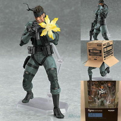 Anime Figma243 Snake Metal Gear Solid 2 Sons of liberty Action PVC Figure No Box