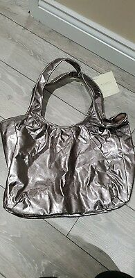 Donna Karan Metallic Cashmere Satchel Bag New With Tags