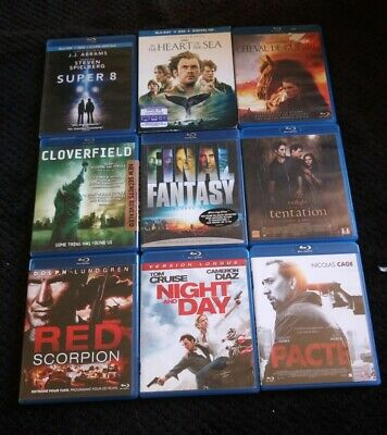LOT 9 films BLU RAY final fantasy pacte Twilight red scorpion super 8