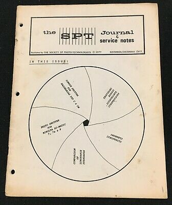 OEM SPT Society of Photo Technologists Journal & Service Notes Nov / Dec 1977