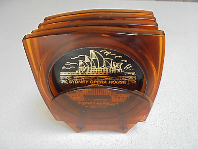 DRINK COASTERS The Sydney Opera House and Sydney Harbour Bridge Design in Stand