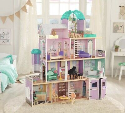 KidKraft Rosewood Mansion Wooden Dollhouse +24 Pieces of Furniture *Fits Barbie*