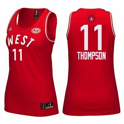 Klay Thompson  11 Women s 2016 Toronto NBA All Star Game Jersey Red Size  Large 3c674f1ee