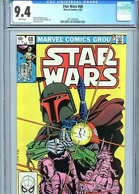 Star Wars #68 CGC 9.4 White Pages Boba Fett Cover Marvel Comics 1983