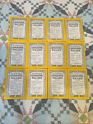 National Geographic 1958 complete year lot of 12 issues color photos Coke ads