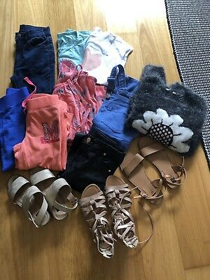 Bulk Lot Of Girls Size 7 & 8 Clothes And Size 2 & 3 Shoes All In Good Condition