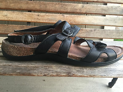 df81fd5c815 DANSKO SURRAYA WOMENS Sz Eu 42 US 11.5-12 Ankle Strap Sandals BLACK ...