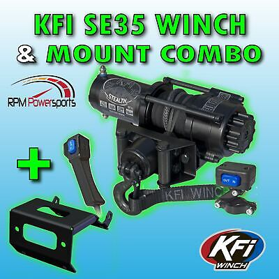 2500lb KFI Winch Mount Combo Kit 2014-2018 Honda Pioneer 700 700-4 NEW