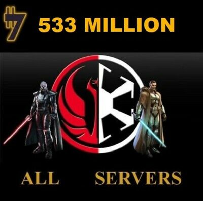 SWTOR Credits 533.000.000 533 Million ONLY FOR DARTH MALGUS  SERVER