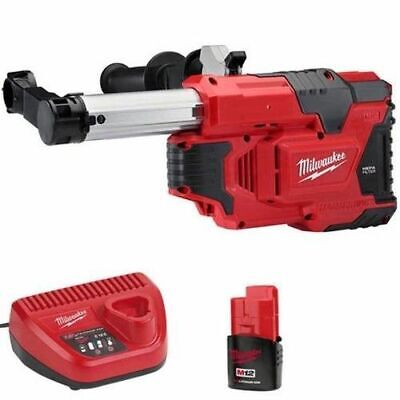 Milwaukee M12DE - 151C Hammervac Dust Extractor - No more mess when drilling