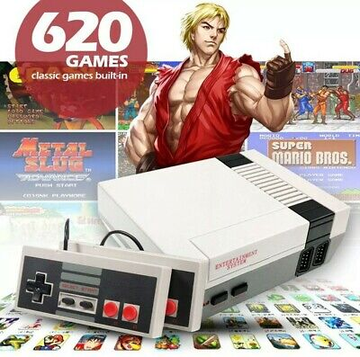Mini Vintage Retro TV Game Console Classic 620 Built-in Games & 2 Controllers