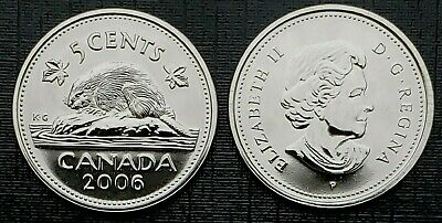 Canada 2006P Proof Like Five Cent Nickel!!