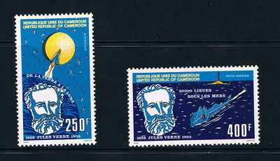 Cameroon stamps, 1978 Jules Verne, #888-9, Scott 643 and C276 MNH