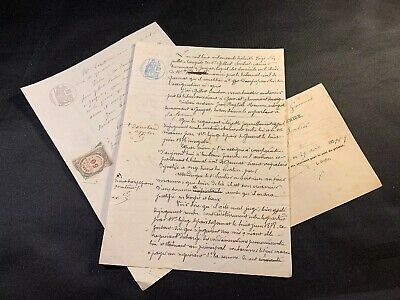 Lot Of Three  Old Documents