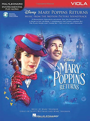 Hal Leonard Corp-Mary Poppins Returns For Viola (US IMPORT) CD NEW