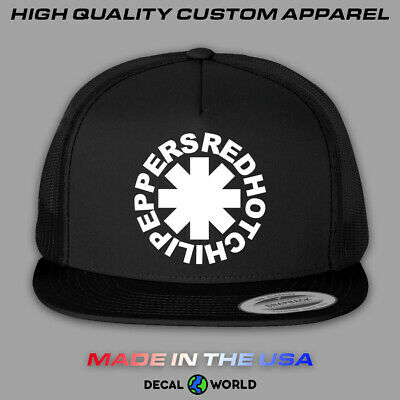 264fe317 Red Hot Chili Peppers Hat / Trucker Mesh Snapback Cap - Black or Charcoal