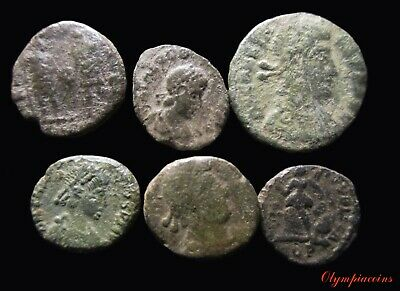 LOT OF 6 Ancient ROMAN  BRONZE  COINS