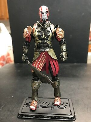 """CUSTOM ACTION FIGURE From Game """"God Of War"""" Series Kratos 3 75"""" In Ares  Armor!"""