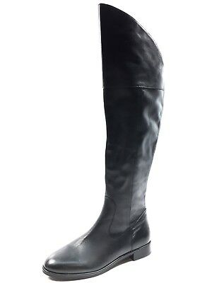 9a0106c477d Via Spiga Women s Kailey Over The Knee Black Leather Boots Size 7 M MSRP   450