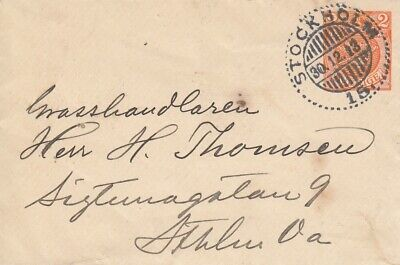 "Sweden 1913 Commercial Cover with ""Christmas Seal"" on reverse"