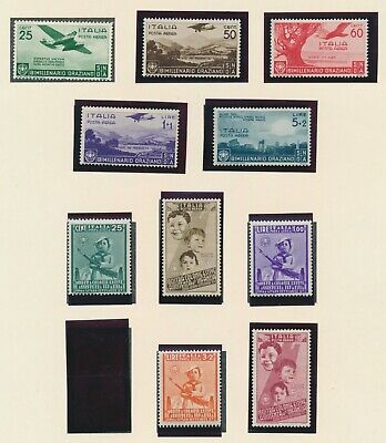 Italy Stamps 1936-1937 Airmail Horace Mh & Child Welfare Main Mh, Incs L5+L3 Mnh