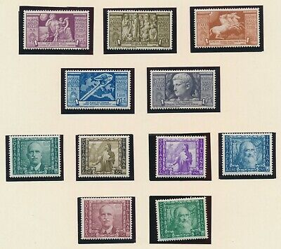 Italy 1937-1938 Excellent Album Page Caesar Airmail Mh, Proclamation Empire Mnh