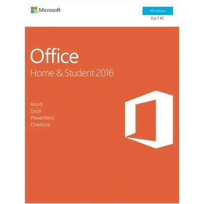 Microsoft Office Software Home & Student 2016 - No DVD Retail Box