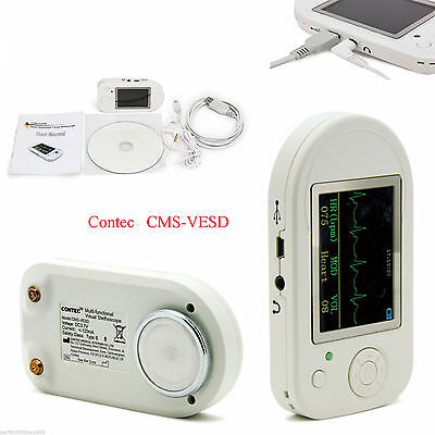 CMS-VESD Electronic Diagnostic Visual Stethoscope ECG SPO2 PR HR USB+Software
