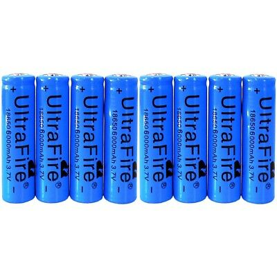 8pcs Ultrafire 18650 Battery 3.7v Li-ion Rechargeable Batteries For Torch Toy US