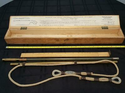 WIGZELL'S BOXED SEA-SOUNDING INSTRUMENT EARLY 1900's DEPTH MEASUREMENT