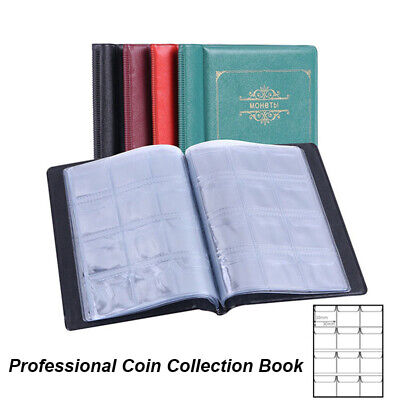 120 Album Coin Penny Money Storage Book Case Holder Collection Professional