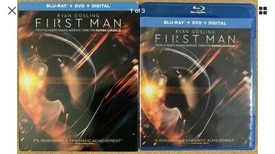 First Man Blu Ray Dvd 2 Disc Set + Slipcover Sleeve Free Shipping Buy It Now