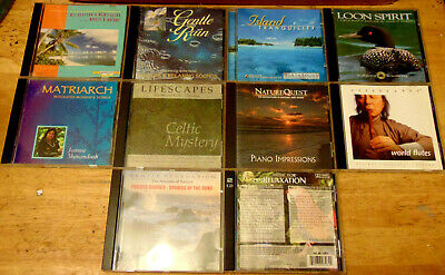 Lot of 10 Assorted MEDITATION / RELAXATION CDs - Caribbean Shores +