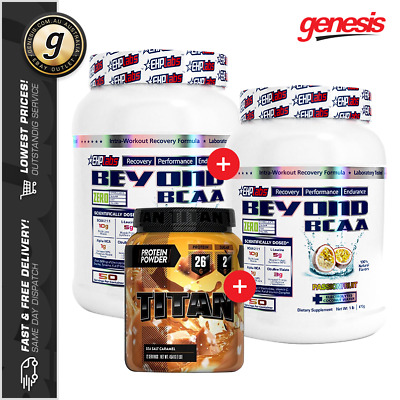 2 x Beyond BCAA by EHP Labs + Titan Protein 1LB - Branch Chain Amino Acids Pack!