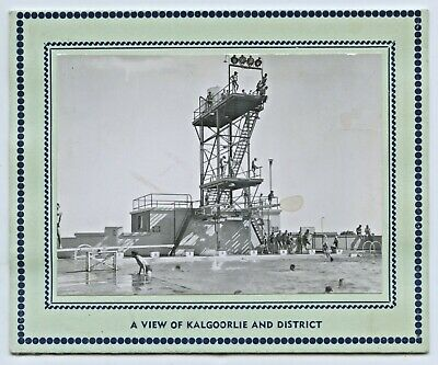 C.1950'S Photographic Greeting Fold Out Card View Of Kalgoorlie Swim Pool W33