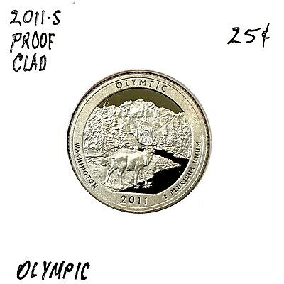 2011-S 25C Olympic DC (Proof) America the Beautiful Quarter - From Proof set