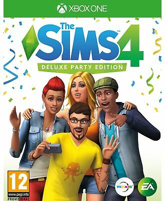 The Sims 4 Deluxe Party Edition Xbox One Game.