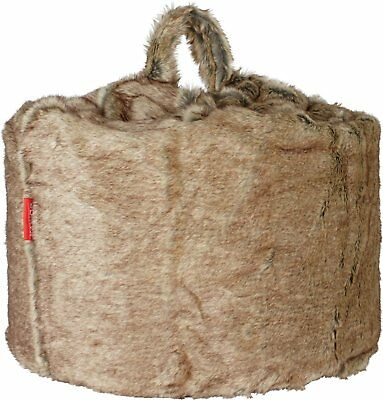 Argos Home Faux Fur Beanbag - Chocolate