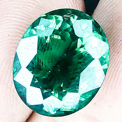 11.29 Cts Museum Size Top Clean Minor Oiled Crystal Green Zambian Emerald