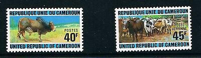 Cameroon stamps, 1974 Cattle-raising #766-7, Scott 588 and C210 MNH