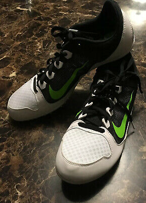 the best attitude 95c9d 79322 New NIKE ZOOM RIVAL MD Track SHOES ~ White Black Green Spikes Shoes Sz 12  Mens