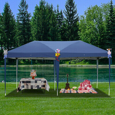 POP Up Waterproof Garden Gazebo Marquee Canopy Party BBQ Wedding Tent 3 X 6 M